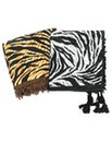 Tassled Animal Print Scarf