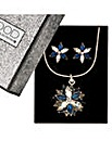 Mood Blue Lotus Flower Jewellery Set