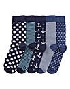 Southbay Pack of 5 Socks
