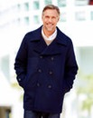 WILLIAMS & BROWN Wool Mix Pea Coat