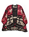Simply Be Red Aztec Blanket Wrap