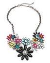 Flower Cluster Statement Necklace