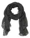 Plain Black Lightweight Scarf