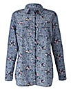 Floral Print Chambray Shirt