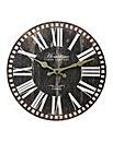 Hometime Rustic Wall Clock 30cm