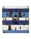 Beach Time Stripe Wall Clock 30cm