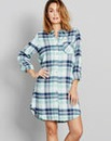 Pretty Secrets Flannel Check Nightshirt