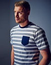 Flintoff By Jacamo Stripe T-shirt Reg