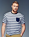 Flintoff By Jacamo Stripe T-shirt Long