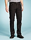 UNION BLUES Black Gaberdine Jeans 35 In