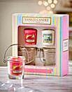 Yankee Candle Glass Bucket & Votive Set