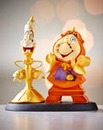 Servants Cogsworth & Lumiere Figurine
