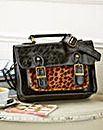 Black & Animal Satchel