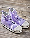 Ladies Lilac Hi Top Slippers