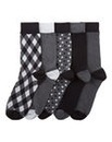 Southbay Pack of 5 Patterned Socks