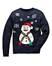 Label J Snowman Knit Regular