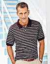 Premier Man Burgundy Feeder Stripe Polo