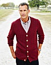 Premier Man Burgundy Cable Cardigan