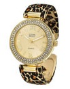 Ladies Animal Print Bangle Watch