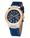 Guess Ladies Denim Strap Watch