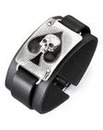 Ace Of Dead Spades Leather Wrist Strap