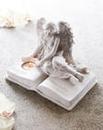 Graveside Angel with Tea Light Holder