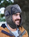 Faux Fur Trimmed Trapper Hat