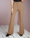 High Waisted Flare Trousers - Short
