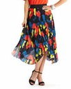 Pleated Handkerchief Hem Skirt - Print