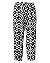 Cropped Ikat Print Harem Trousers