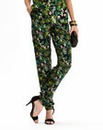 Botanical Print Tapered Trousers