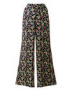 Black Floral Wide Leg Trousers Short