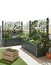 Set of 2 Wide Trellis Planters