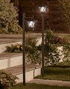Set of 2 Solar Post Lights