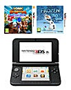 Nintendo 3DS XL Blue and Black Bundle