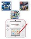 Nintendo 2DS White & Red Bundle