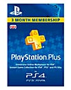 PS Plus 3 Month Subscription Card