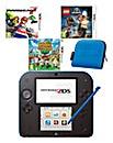 2DS Black&Blue Console & Games Bundle
