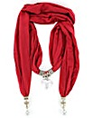 Heart Jewelled Scarf