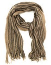 Long Knitted Glitter Thread Scarf