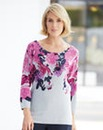 Nightingales Floral Print Jumper