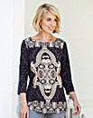 Nightingales Border Print Top