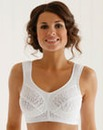 Miss Mary Non Wired Jacquard White Bra