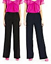 Pack of 2 Trousers Length 33in