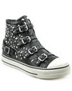 Ash Black Studded High Top Trainer