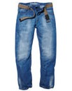 Jacamo Fashion Jeans With Webbed Belt XL