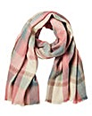 Pieces Pastel Check Oversized Scarf