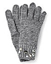 Grey Embellished Gloves