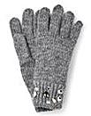 Grey Embellished Gloves
