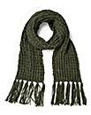 Khaki Chunky Knit Scarf
